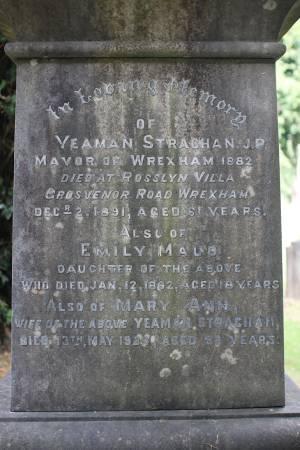 Yeaman Strachan headstone