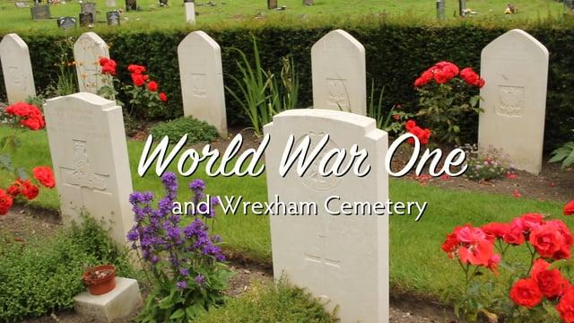 Casualties of WWI remembered at Wrexham Cemetery.